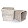 "Square Planter Basket Set 2 - WW 7.5x8""/9x9.5"".."