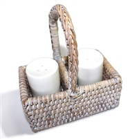 Salt & Pepper Basket  - WW 4.5x3x5""