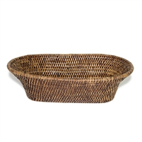 "Oval Narrow Bread Basket  - AB 13x7x4"".."