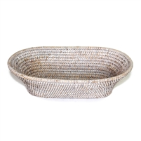 "Oval Narrow Bread Basket - WW 13x7x4""H.."