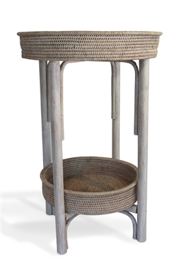 Round Side Table with Removable Tray - WW..