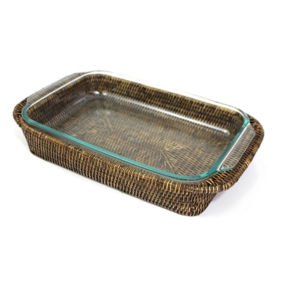 3 qt. Pyrex Bakeware Tray Oblong Shape (Pyrex Included) - AB 17x11x2.5'
