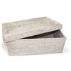 "Rectangular Storage Basket with Removable Lid- WW Large 18x11x7"".."