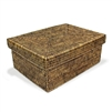 "Rectangular Storage Basket with Removable Lid - AB Small 14x10x6"".."