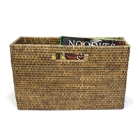 "Slim  Magazine Basket - AB 16x5x10"".."