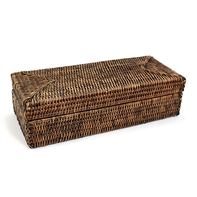 "Rectangular Long Box with Lid - AB 14x6x4""H.."