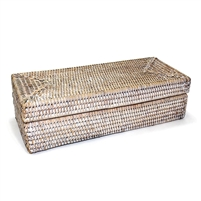 "Rectangular Long Box with Lid - WW 14x6x4""H.."