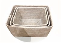 "Set of 3 Family Baskets  27.75x22x13"", 24x 20x12"", 21x18x11.5"