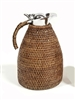 Rattan Thermal Coffee Carafe  (Stainless Steel) 1.5 L Antique Brown 50 oz Antique Brown