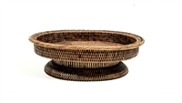 Oval Fruit Tray 18x14.5x6' Antique Brown