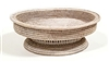 Oval Fruit Tray 18x14.5x6' White Wash