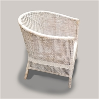 Inya Lounge Chair 32x24x30' White Wash