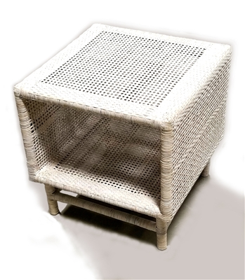 Inya Side Table 20x20x20' White Wash