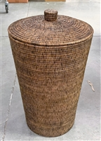 Empire Round Laundry Basket  with cut out handles Antique Brown 15.5' x 25.5'
