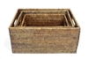 "Rectangular Set of 3 Baskets w/ Handles - AB 12x15.5x7.5""/10x14x6.25""/8x12x5"" .."