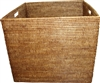 "Square Laundry Basket - AB 20.5x17.5""H .."