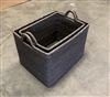 Basket w/ Loop Handles Set 2 Rectangular WVR - Grey Wash 20x15x13.5'/17x12.5x13'