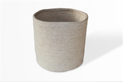 Jute Trash Bin - Bleach White (10x10�)