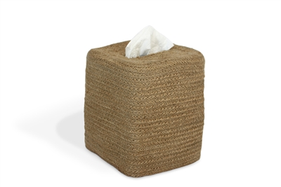 Jute Tissue Box Square - Natural 5.75x6.25""