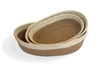 Jute  oval Tray(set of 3) Material: Natural Jute with Bleached White Border