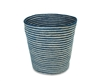 "Jute Round Conical Basket - Indigo Blue/Bleach White Mini Stripe (9x11x11""H)"
