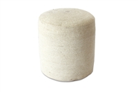 "JUT023 Jute Round Pouf - Bleach White 15.5 x 15.5"" high"