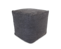 Jute Square Pouf - Dark Grey 15.5x15.5x15.5""