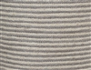 Jute Square Pouf - Silver Grey/Bleach White Mini Stripe 15.5x15.5x15.5""