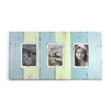 "Frame RW Plain Wide Board Multi 3-pic (4x6"") Pale Blue/Pale Green Rustick - 23x12"".."