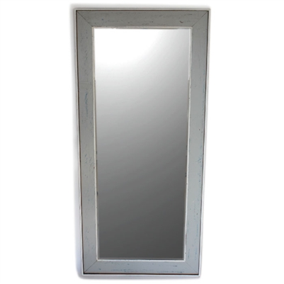 "Mirror RW Pale Grey/White Rustic 28""x60"".."