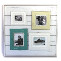 "Frame RW White with  Multi Small Frames  4-pic 19x19.5x1.25"" .."