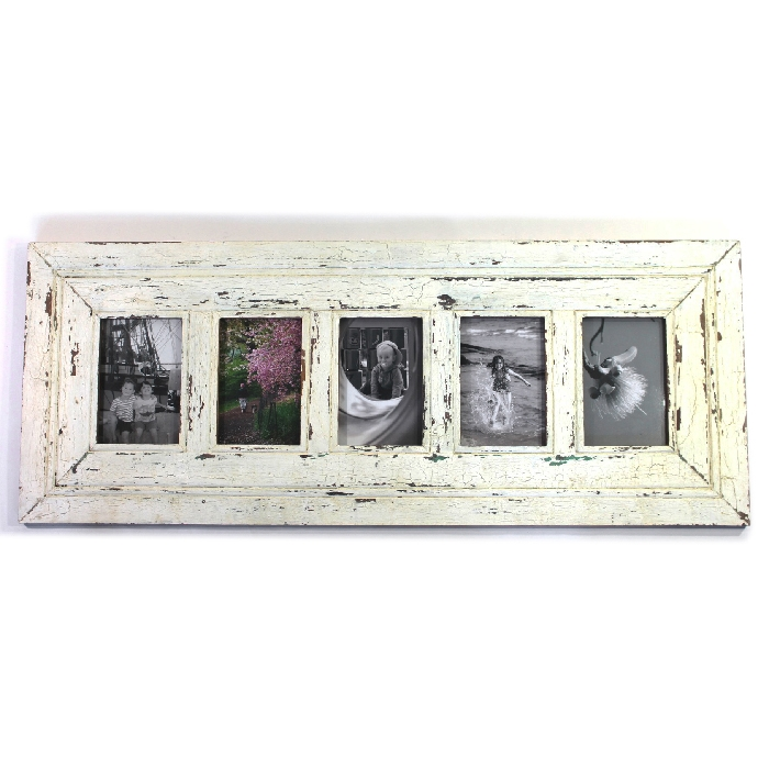 Frame Rw Rustic White Wide 5 Picture 4x6