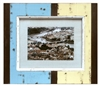 "Frame RW Rustic Blue/Pale Yellow (8x10) 14x12"".."
