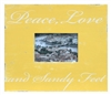 "Frame RW Gold Yellow ""PEACE LOVE AND SANDY FEET"" (5x7) 15x13"".."