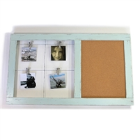 "Note Clip/Cork Board Pale Blue RW 31.5x18.5"".."