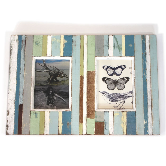 White 2 Photo Collage Frame 11x14 In For 5x7 In At Home