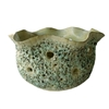 Bowl Ceramic Open Lotus - Moss Green..