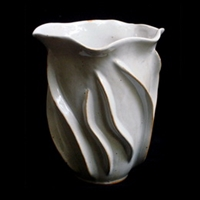 "Vase Small Vertical Wave - NW 4x5"" .."