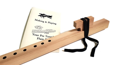 Native American style pre tuned flute making kit in F#
