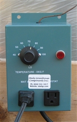 Thermostat for the propagation mat, use with a ground fault intercept circuit