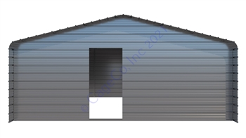 21'W x 20'D x 7'H- 4 Sided Utility Shed \ Cover