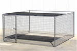 Cactus Dog Kennel with Half Shade Panel 12'W x 12'D x 6'H