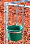 Hanging Bucket Holder with Round Bucket 8 quarts- Black