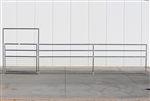 1-5/8 Horse Corral Foaling Gate Panel 4 Rail With Welded Wire:  24'W x 5'H