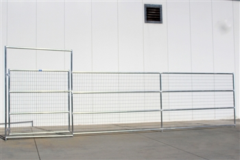 Horse Corral Gate 4 Rail With Welded Wire