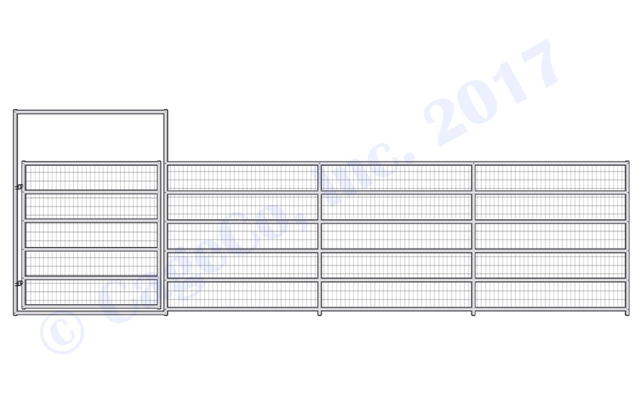 Welded Wire Corrals - 1 5/8 Horse Corral Gate 6 Rail With Welded ...