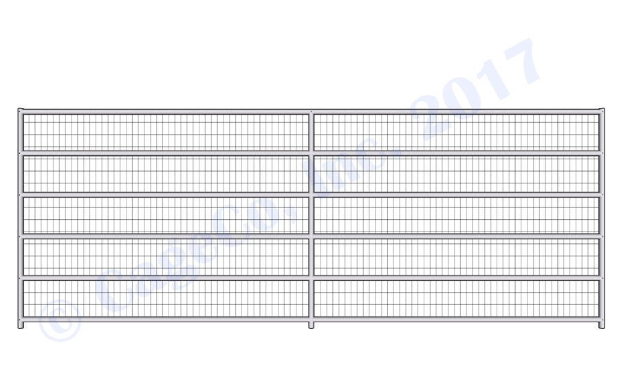 Welded Wire Corrals - 1 5/8 Horse Corral Panel 6 Rail With Welded ...