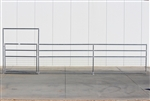 1-7/8 Horse Corral Foaling Gate Panel 4 Rail With Welded Wire:  24'W x 5'H