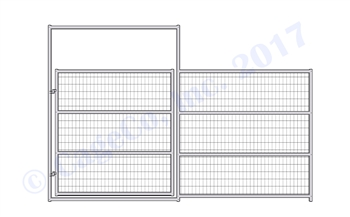 1-7/8 Horse Corral Gate 4-Rail with Welded Wire