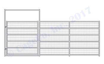 Horse Corral Gate 6 Rail With Welded Wire